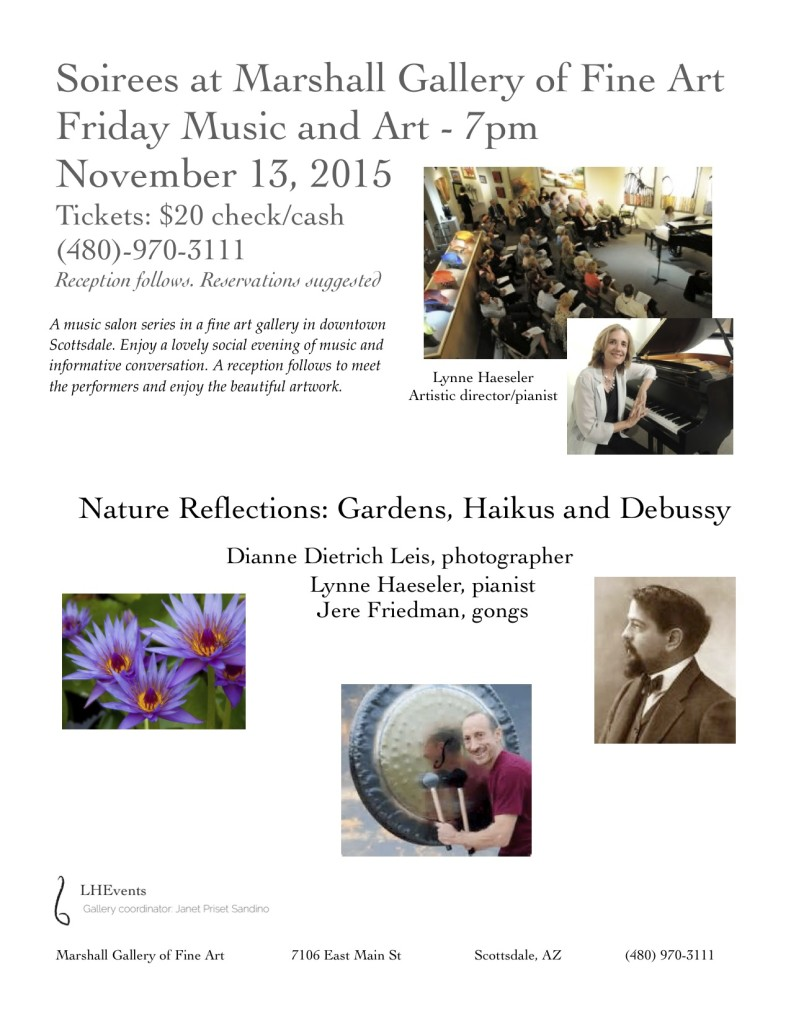 Nature Reflections: Gardens, Haikus and Debussy @ Marshall Fine Art Gallery