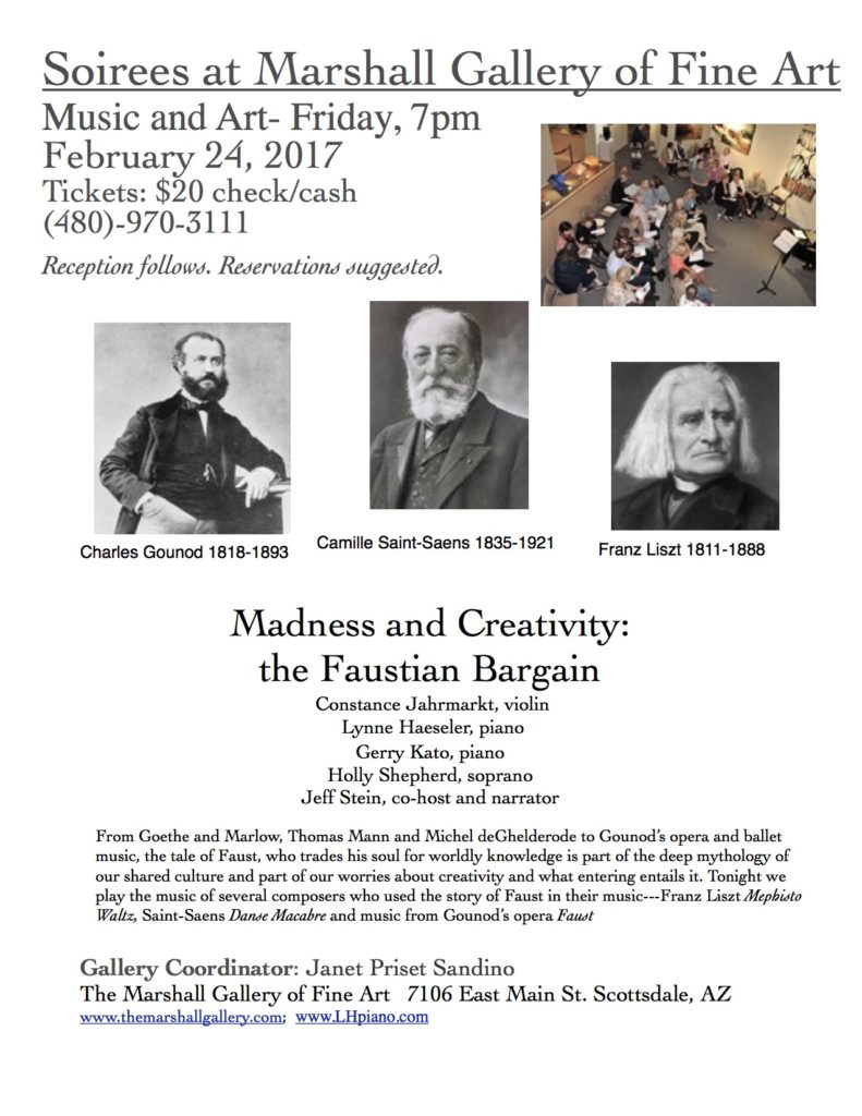 Madness and Creativity: Faustian Bargain @ Marshall Fine Art Gallery