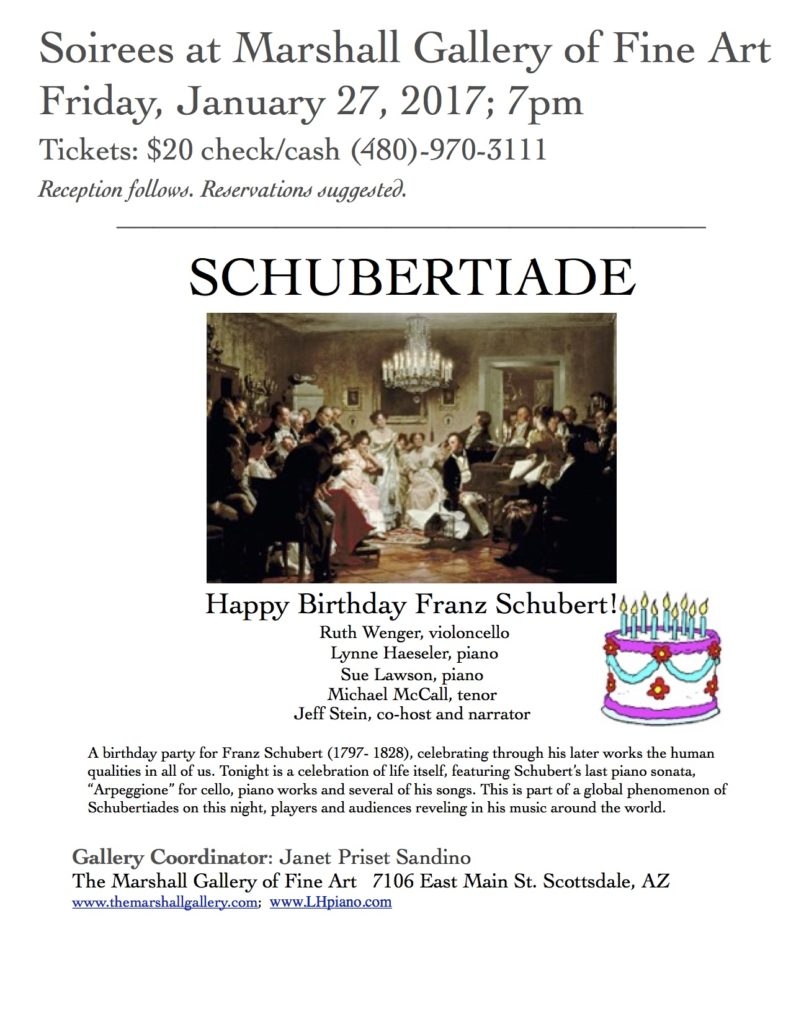 Schubertiade Soiree @ Marshall Fine Art Gallery