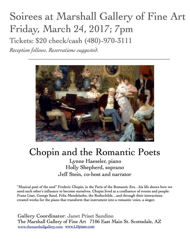 Chopin and the Romantic Poets @ Marshall Fine Art Gallery
