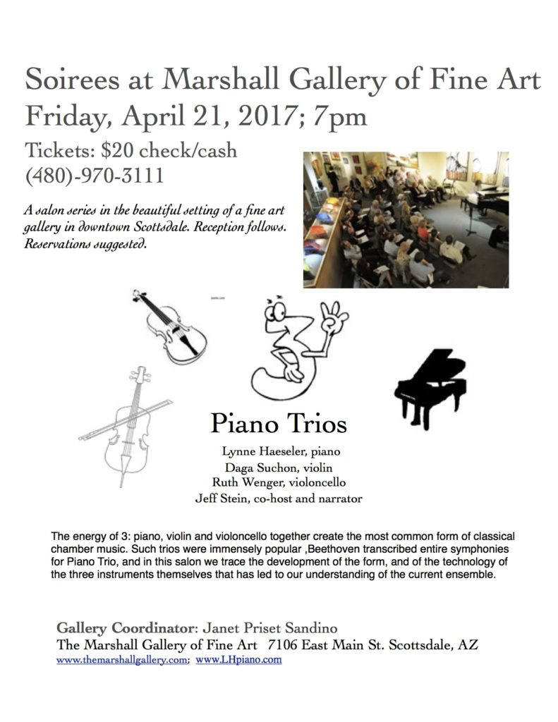 Piano Trios @ Marshall Fine Art Gallery