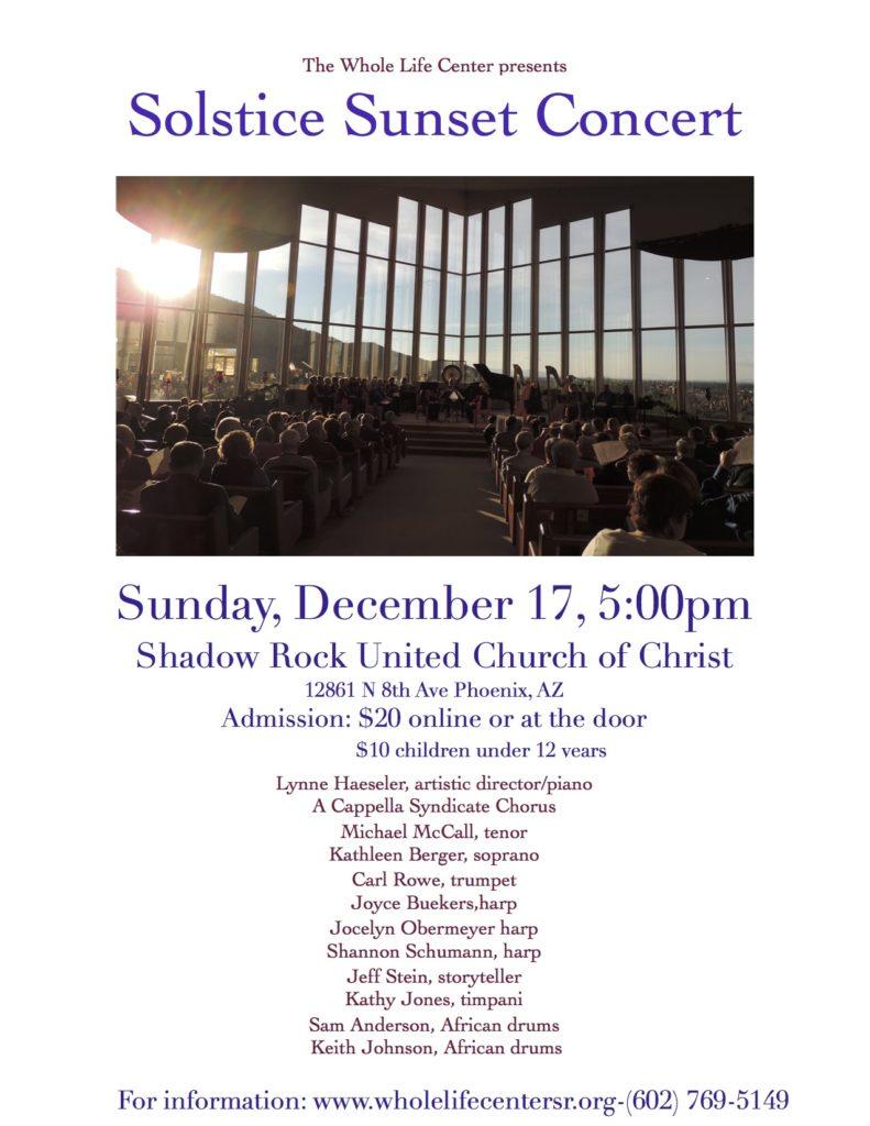 Solstice Sunset Concert @ Shadow Rock UCC