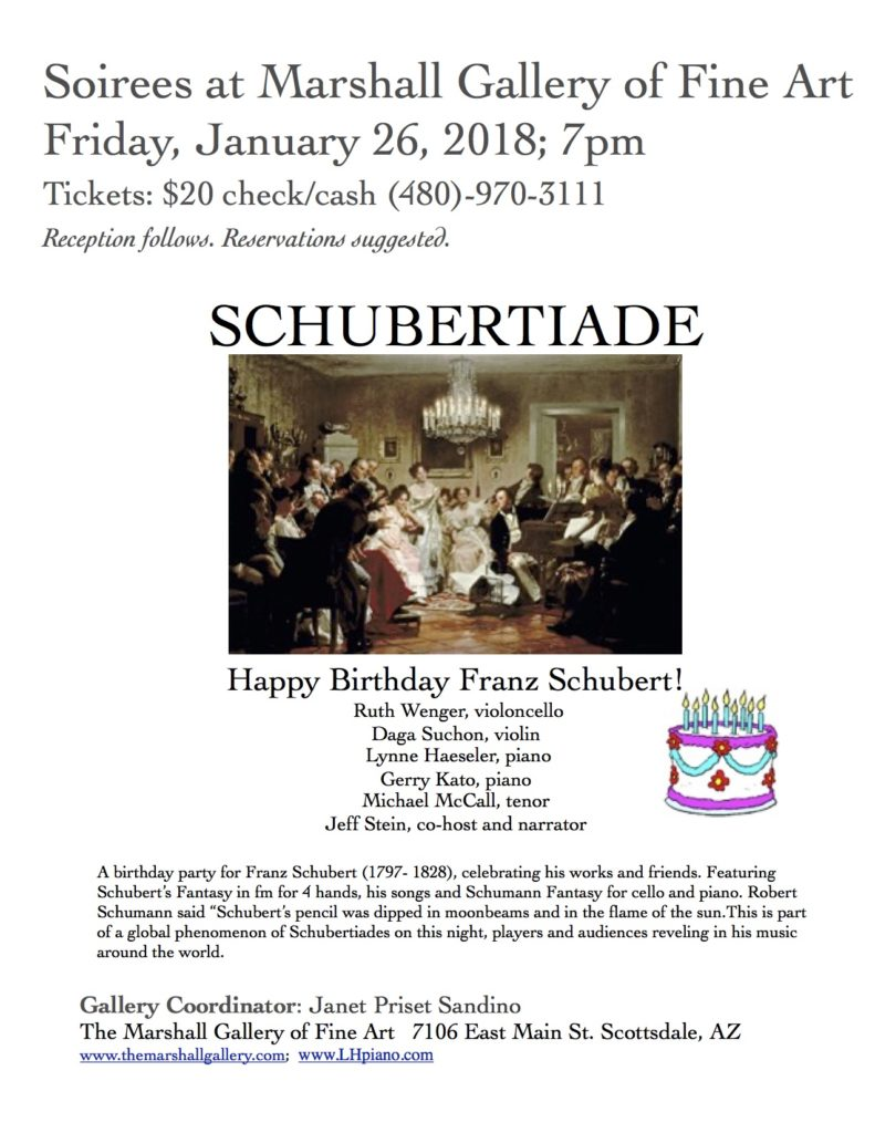 Schubertiade @ Marshall Fine Art Gallery